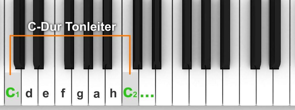 C-Dur Tonleiter Klavier